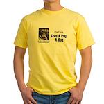 HUG A PUG Yellow T-Shirt