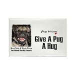 HUG A PUG Rectangle Magnet (100 pack)