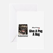 HUG A PUG Greeting Cards (Pk of 10)