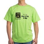 HUG A PUG Green T-Shirt