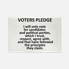 Voters Pledge Rectangle Magnet