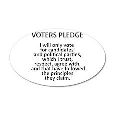 Voters Pledge 22x14 Oval Wall Peel