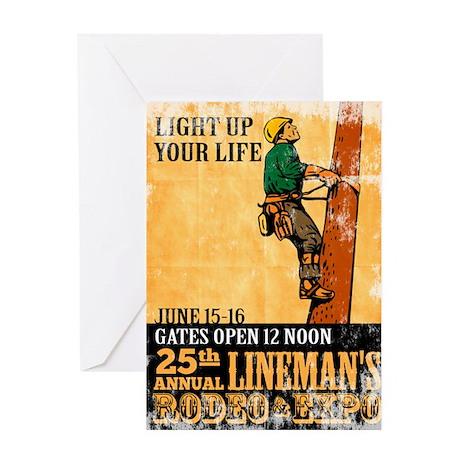 power lineman electrician Greeting Card