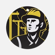power lineman electrician Ornament (Round)