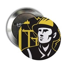 "power lineman electrician 2.25"" Button"