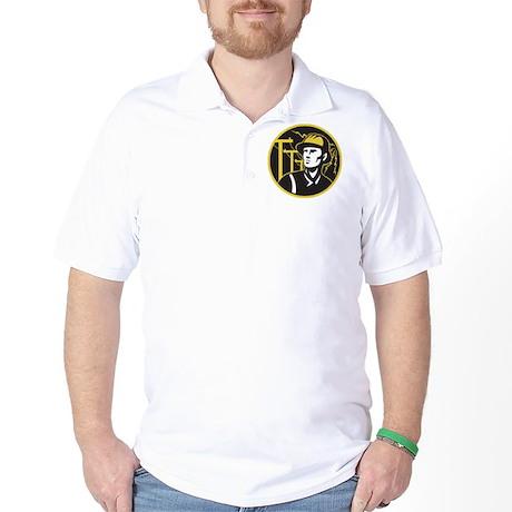 power lineman electrician Golf Shirt