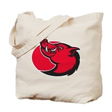 wild pig razorback Tote Bag