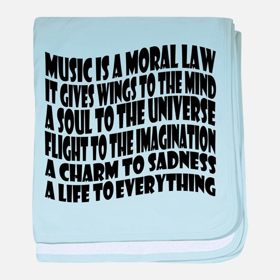 Music is a Moral Law baby blanket