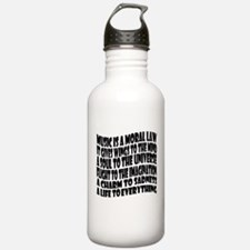 Music is a Moral Law Sports Water Bottle