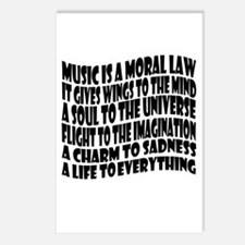 Music is a Moral Law Postcards (Package of 8)
