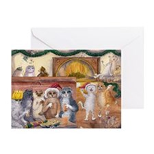 cats 1 Happy Catsmouse Greeting Cards