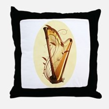 Pedal Harp Throw Pillow
