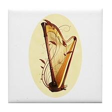 Pedal Harp Tile Coaster