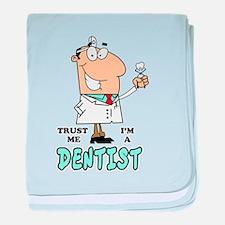 Trust Me Im a Dentist baby blanket