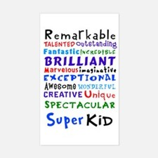 Super Kid Rectangle Decal