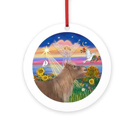 Autumn Angel - Shetland Pony Ornament (Round)