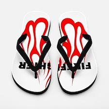 Firefighter Flames Flip Flops