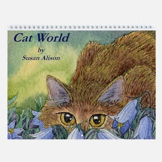 Cat World Wall Calendar