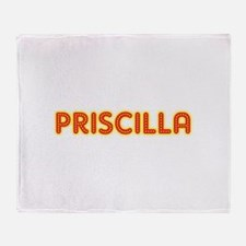 Priscilla in Movie Lights Throw Blanket