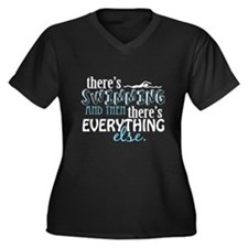 Swimming is Everything Women's Plus Size V-Neck Da