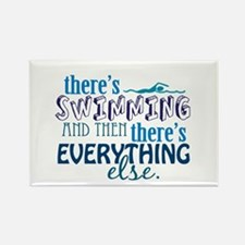 Swimming is Everything Rectangle Magnet