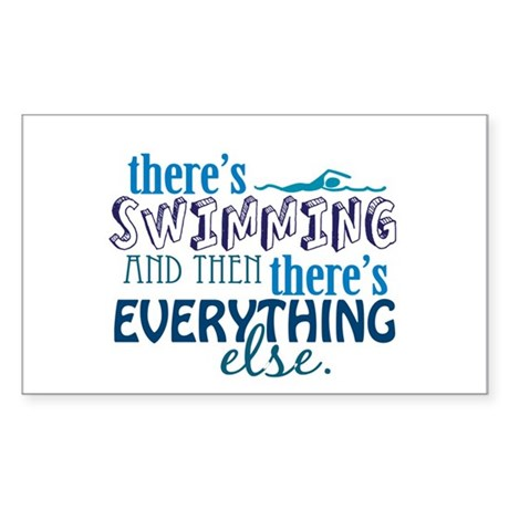 Swimming is Everything Sticker (Rectangle)