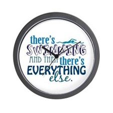 Swimming is Everything Wall Clock