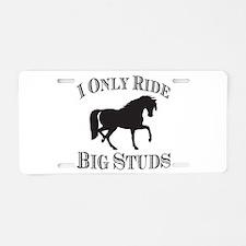 Big Studs - Prancing - Black Aluminum License Plat