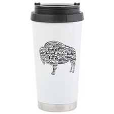 Buffalo Text Travel Mug