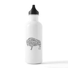 Buffalo Text Water Bottle