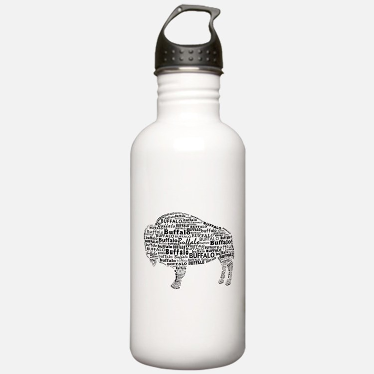 Buffalo Text Water Bottle
