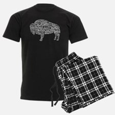 Buffalo Text Pajamas