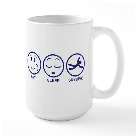 Eat Sleep Skydive Large Mug