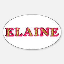 Elaine Sticker (Oval)