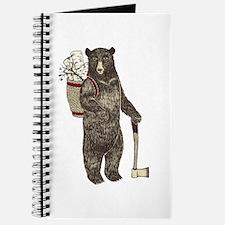 Cute Christmas bear Journal