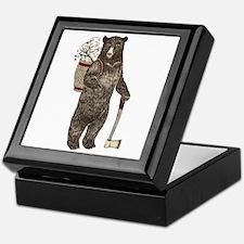 Cute Christmas bear Keepsake Box