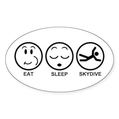 Eat Sleep Skydive Sticker (Oval)