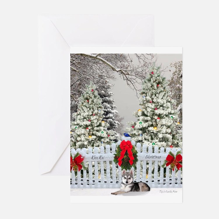 Alaskan Klee Kai Christmas Cards (Pk of 20)