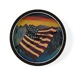 Patriot Mountain Wall Clock