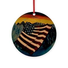 Patriot Mountain Ornament (Round)