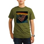 Patriot Mountain Organic Men's T-Shirt (dark)