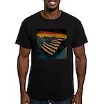Patriot Mountain Men's Fitted T-Shirt (dark)