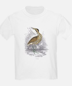 Bittern Bird (Front) Kids T-Shirt