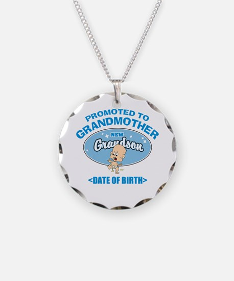 Funny New Grandmother Personalized Necklace Circle