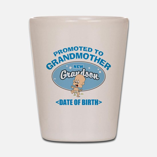 Funny New Grandmother Personalized Shot Glass