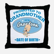 Funny New Grandmother Personalized Throw Pillow