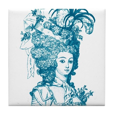 French Aristocrat (teal) Tile Coaster