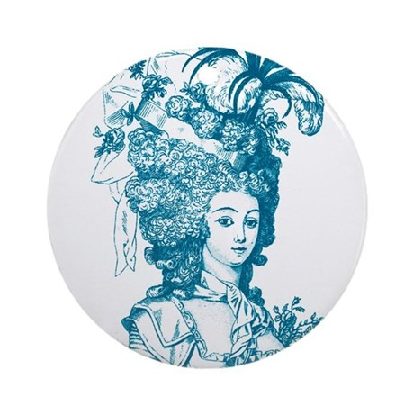 French Aristocrat (teal) Ornament (Round)