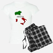 Italy Flag Map Pajamas