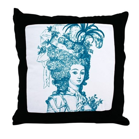 French Aristocrat (teal) Throw Pillow
